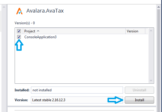 Adding AvaTax to your project